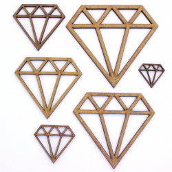 Geometric Diamond Craft Shape