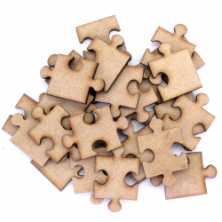 Jigsaw Puzzle Pieces Craft Shape